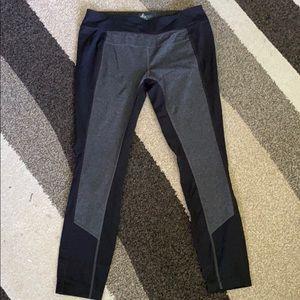 Prana black gray leggings women's Large